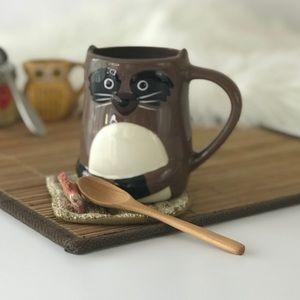 Riley Raccoon Earthenware Ceramic Coffee Cup Mug